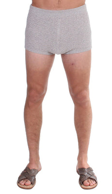 Dolce & Gabbana - Gray Cotten Logo Casual Short Shorts, Londress