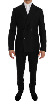 Dolce & Gabbana - Black Double Breasted Slim Fit Suit