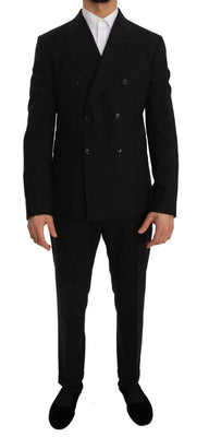 Dolce & Gabbana - Black Stretch Crystal Bee Slim Fit Suit