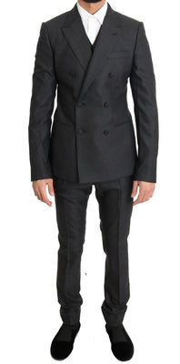 Dolce & Gabbana - Gray Wool Silk Stretch Slim Fit Suit