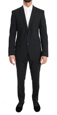 Dolce & Gabbana - Black Wool MARTINI 2 Piece Stretch