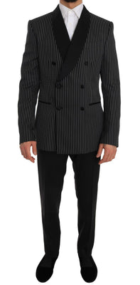 Dolce & Gabbana - Black Double Breasted Slim Fit MARTINI, Londress
