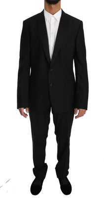 Dolce & Gabbana - Blue Wool MARTINI 2 Piece Slim Suit