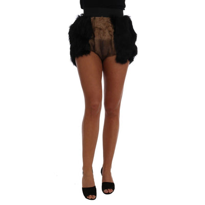 Dolce & Gabbana - Black Mink & Nutria Fur Hot Pants, Londress