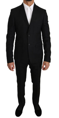 Dolce & Gabbana - Black Wool 2 Piece Slim Fit Suit