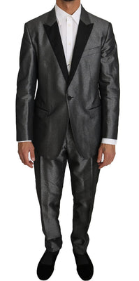Dolce & Gabbana - Gray Patterned MARTINI 2 Piece Suit