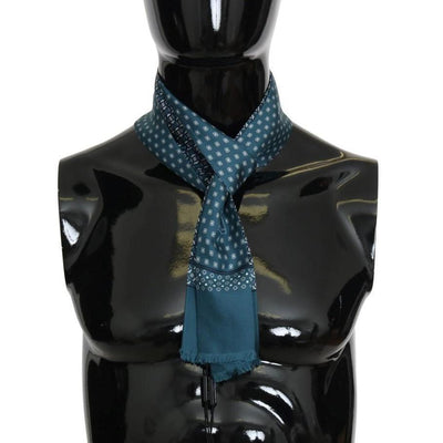Dolce & Gabbana - Blue Silk Patterned Skinny Scarf, Londress