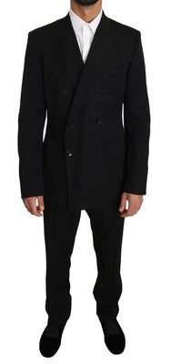 Dolce & Gabbana - Black Wool SICILIA 2 Piece Slim Suit