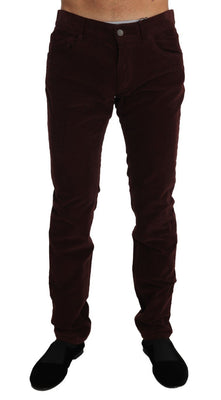 Dolce & Gabbana - Corduroys CLASSIC Brown Stretch Pants Jeans, Londress