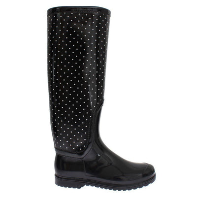 Dolce & Gabbana - Black Polka Dot Wellies, Londress