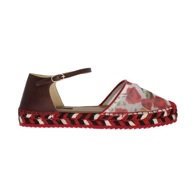 Dolce & Gabbana - Floral Leather Espadrilles/Sandals | Londress