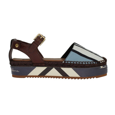 Dolce & Gabbana - Blue Striped Espadrilles/Sandals | Londress