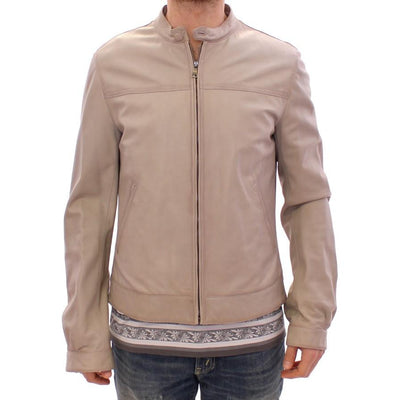 Dolce & Gabbana - Beige Leather Jacket | Londress