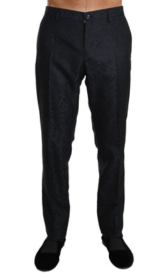 Dolce & Gabbana - Blue Jacquard Dress Formal Trousers, Londress