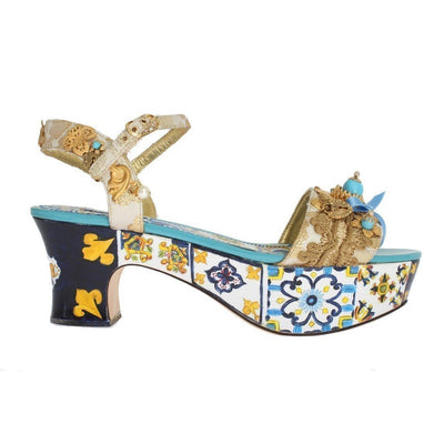 Dolce & Gabbana - Hand-painted Majolica Sandals | Londress
