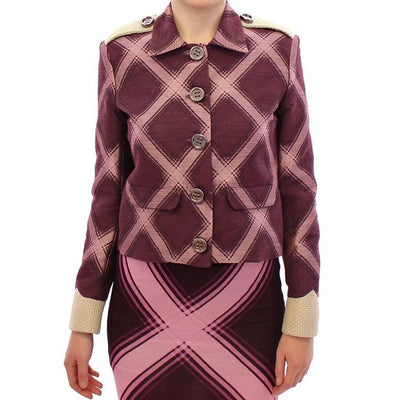 House of Holland - Purple checkered blazer jacket, Londress