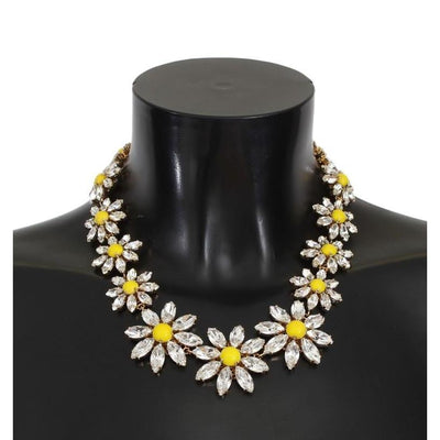 Dolce & Gabbana - Yellow Sunflower Crystal Necklace