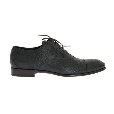 Dolce & Gabbana - Green Leather Formal Shoes | Londress