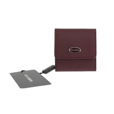 Dolce & Gabbana - Bordeaux Dauphine Leather Key Wallet