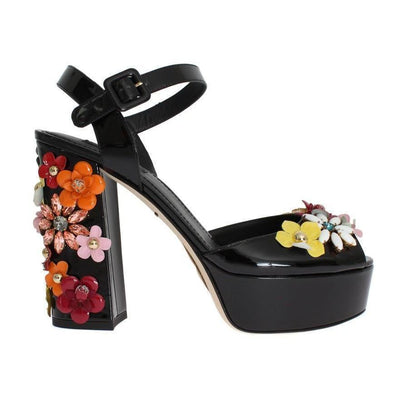Dolce & Gabbana - Black Leather Sandals | Londress