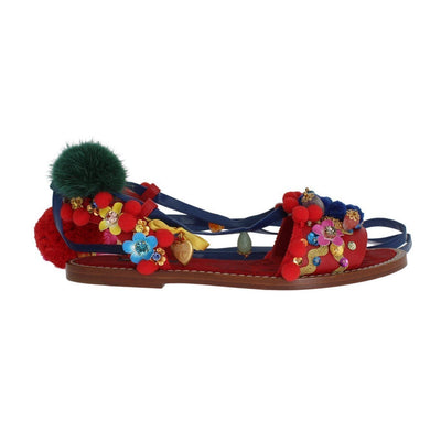 Dolce & Gabbana - Pom Pom Leather Sandals | Londress