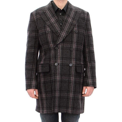Dolce & Gabbana - Grey Double Breasted Coat | Londress