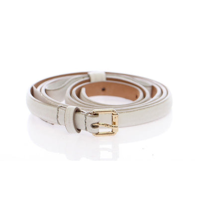 Dolce & Gabbana - White Leather Belt | Londress