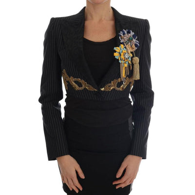 Dolce & Gabbana - Black Crystal Blazer Jacket, Londress