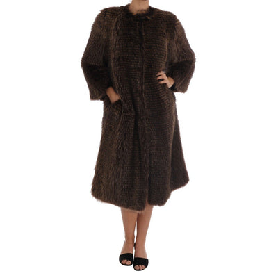 Dolce & Gabbana - Brown Raccoon Fur Coat Jacket