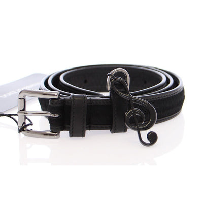 Dolce & Gabbana - Black Leather & Fur Belt, Londress