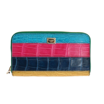 Dolce & Gabbana - Multicolor Alligator Leather Continental Wallet | Londress