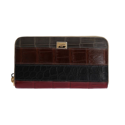 Dolce & Gabbana - Multicolor Crocodile Leather Continental Wallet | Londress