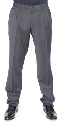 Dolce & Gabbana - Gray Wool Stretch Ventanni Pants, Londress