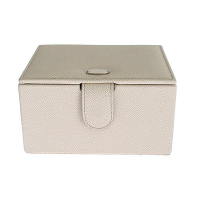 Dolce & Gabbana - White Leather Unisex Two Watch Case Cover Box Storage | Londress