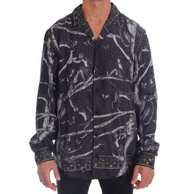 Dolce & Gabbana - Grey Monkey Print Pajama Shirt, Londress