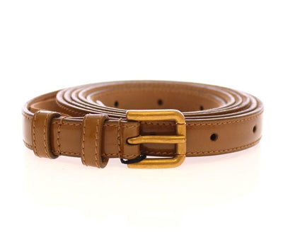 Dolce & Gabbana - Brown Leather Logo Belt, Londress