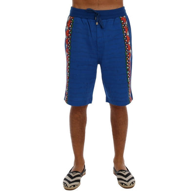 Dolce & Gabbana - Blue Cotton Above-Knee Shorts