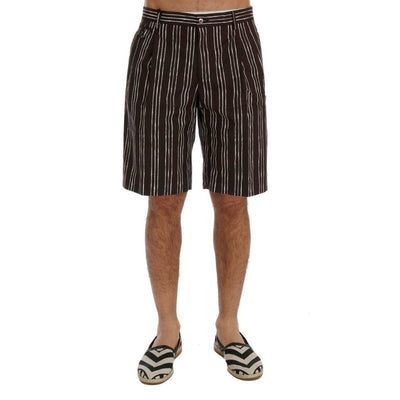 Dolce & Gabbana - Bordeaux Striped Shorts