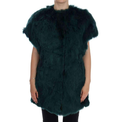 Dolce & Gabbana - Green Alpaca Fur Vest Sleeveless Jacket | Londress