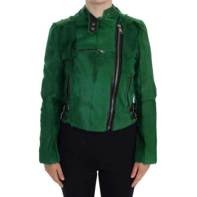 Dolce & Gabbana - Green Lamb Goat Fur Jacket | Londress