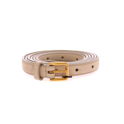 Dolce & Gabbana - Beige Leather Suede Belt, Londress