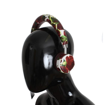Dolce & Gabbana - Roses Print Wireless Leather Headphone