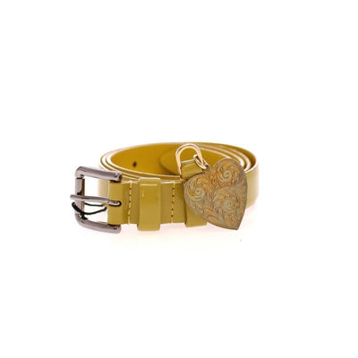 Dolce & Gabbana - Yellow Leather Heart Belt, Londress