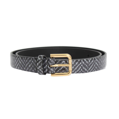 Dolce & Gabbana - Grey Leather Belt, Londress