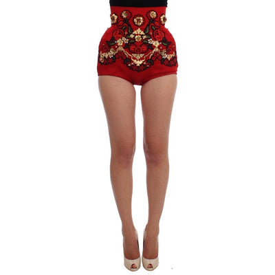 Dolce & Gabbana - Red Silk Shorts, Londress