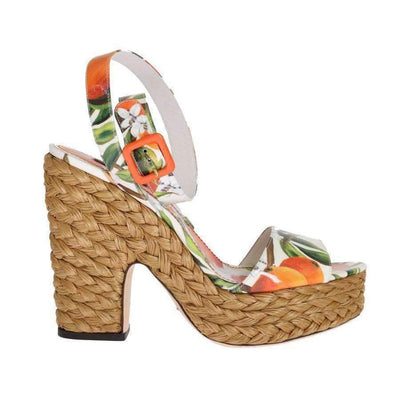Dolce & Gabbana - Leather & Straw Platform Sandals