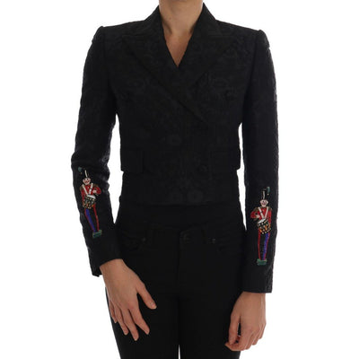 Dolce & Gabbana - Black Brocade Blazer Jacket, Londress