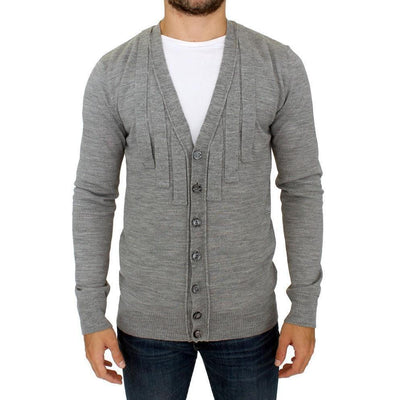 Karl Lagerfeld - Grey wool cardigan | Londress