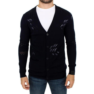 Karl Lagerfeld - Blue wool cardigan