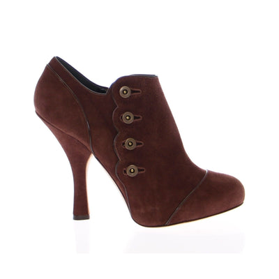 Dolce & Gabbana - Brown Suede Ankle Boots, Londress